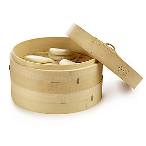 School of Wok 2-Tier Bamboo Steamer