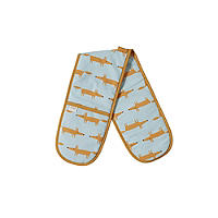 Dexam Scion Mr Fox Double Oven Glove, Blue