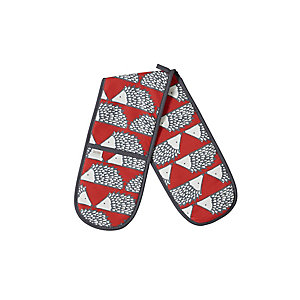 Bliss Home Scion Spike Double Oven Glove, Red