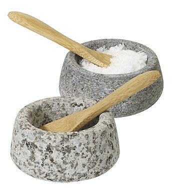 Granite Salt & Pepper Pinch Pots