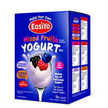 EasiYo Mixed Fruits Yogurt Mix 1kg Variety Pack (5 x 230g)