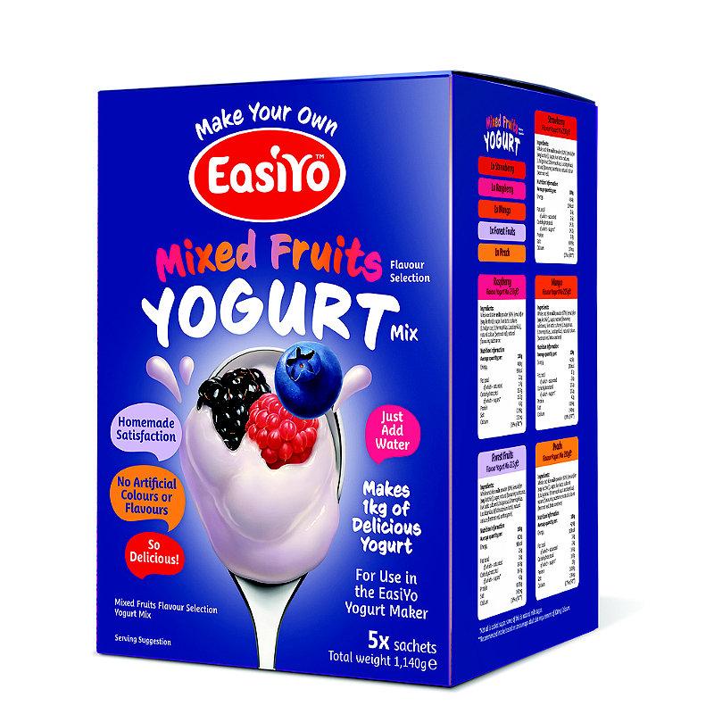 EasiYo Mixed Fruits Yoghurt Sachet Mix 1kg Variety