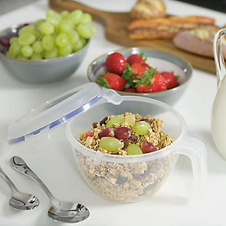 Lock and Lock Lidded Cereal Bowl with Handle alt image 2