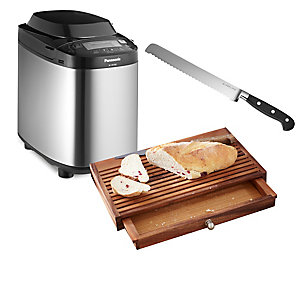 Breadmaker with Knife and Board Bundle