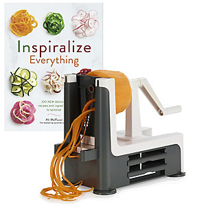 Vegetable Spiralizer and Inspiralized Book Bundle