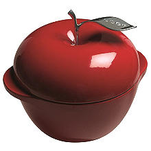 Lodge Cast Iron Apple Dutch Oven Red