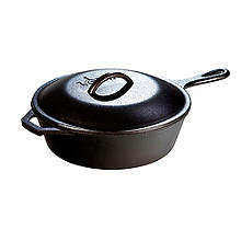Lodge Cast Iron Deep Lidded Skillet 27cm