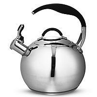Pfeifender Wasserkocher für die Herdplatte 2,4l Edelstahl