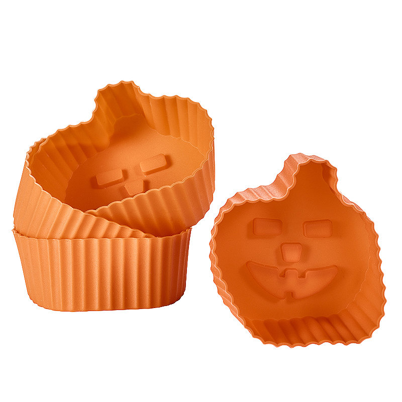 Halloween Pumpkin Silicone Cupcake Cases - 6 Pack