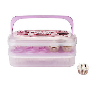 Two-Tier Traybake and Cupcake Carrier - Holds 28 Cupcakes alt image 2