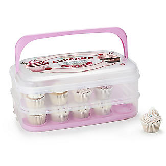 Two-Tier Traybake and Cupcake Carrier - Holds 28 Cupcakes alt image 3
