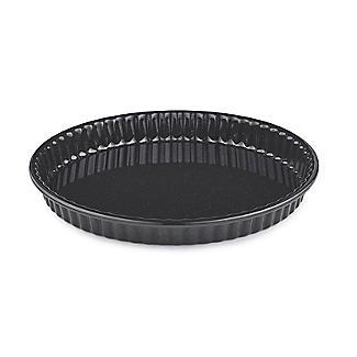 Black Enamel 25cm Quiche Dish