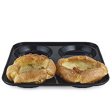 Lakeland Black Enamel 4 Hole Yorkshire Pudding Tin
