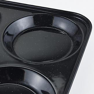 Lakeland Black Enamel 4 Hole Yorkshire Pudding Tin alt image 3
