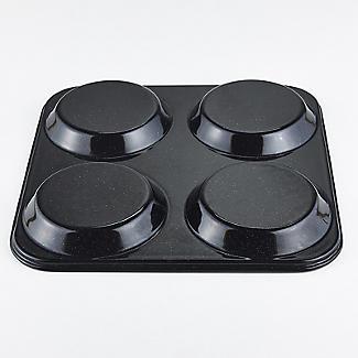 Lakeland Black Enamel 4 Hole Yorkshire Pudding Tin alt image 4
