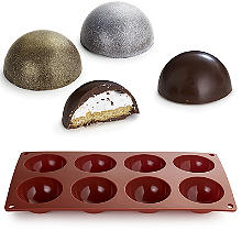 Chocolate Teacake Silicone Mould for 8 Teacakes