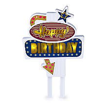 Flashing Happy Birthday Cake Topper