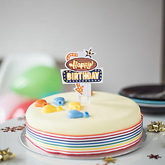 Flashing Happy Birthday Cake Topper alt image 2