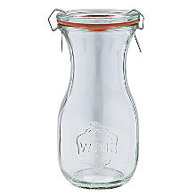 Weck Glass Carafe Bottle with Glass Lid and Rubber Seal 290ml