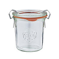 Weck Small Glass Jar with Glass Lid and Rubber Seal 140ml