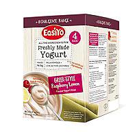 EasiYo Indulgence Greek Style Raspberry Lemon Yogurt Mix x 4