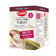 EasiYo Greek Style Raspberry and Lemon 1kg Yogurt Mix 4 x 240g