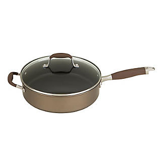 Anolon Advanced 28cm Glass-Lidded Covered Saute Pan Umber alt image 12