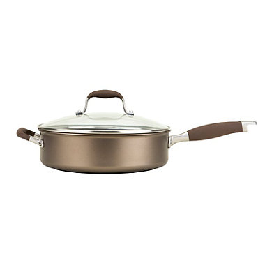 Anolon Advanced 28cm Glass-Lidded Covered Saute Pan Umber