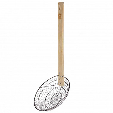 School of Wok Spider Strainer with Bamboo Handle