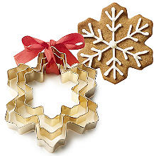 Golden Snowflake Cookie Cutters Set of 3
