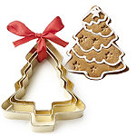 Golden Christmas Tree Cookie Cutters Set of 3