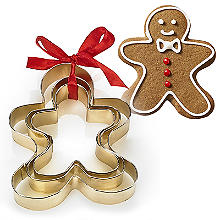 Golden Gingerbread Men Cookie Cutters Set of 3