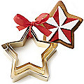 Golden Christmas Star Cookie Cutters Set of 3