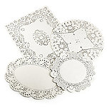 Lakeland 80 Assorted Paper Doilies - 4 designs