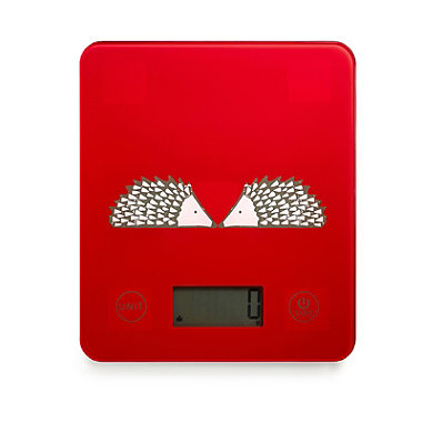 Scion Spike Electronic Kitchen Scales Red