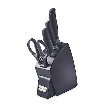 Spectrum Grey 4 Piece Knife Block Set