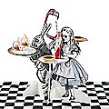 Truly Alice Character Treat Stands Set of 3