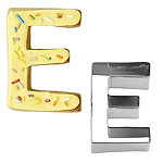 Letter E Alphabet Stainless Steel Cookie Cutter