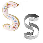 Letter S Alphabet Stainless Steel Cookie Cutter
