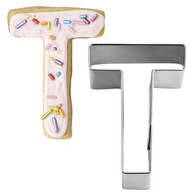 Letter T Alphabet Stainless Steel Cookie Cutter