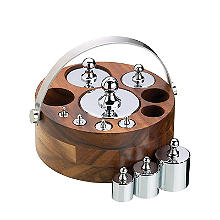 Natural Elements 10-Piece Metric Weight Set with Wood Stand