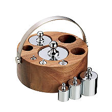 Natural Elements 8-Piece Imperial Weight Set with Wood Stand