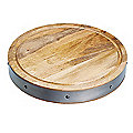 Industrial Kitchen Handmade Round Wooden Chopping Board