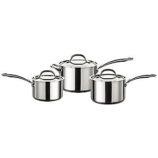 Circulon Ultimum Stainless Steel 3-Piece Pan Set