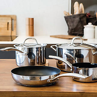 Circulon Ultimum Stainless Steel 5-Piece Pan Set alt image 4