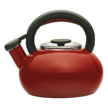 Prestige 1.4L Whistling Stove Top Kettle Red