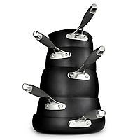 Lakeland Hard Anodised Bell Shaped 5-Piece Pan Set