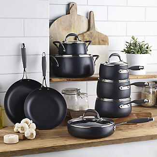 Lakeland Hard Anodised Bell Shaped 5-Piece Pan Set alt image 2