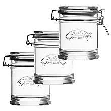 3 Kilner Signature Collection Clip Top Jars 450ml
