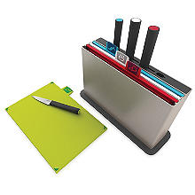 Joseph Joseph Index Chopping Board Set with Knives Regular